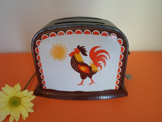 vintage child's toy rooster toaster  'Good Morning""