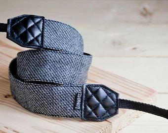 Camera Strap - Wool in Wave Pattern for DSLR and Mirrorless Gift for Father's day