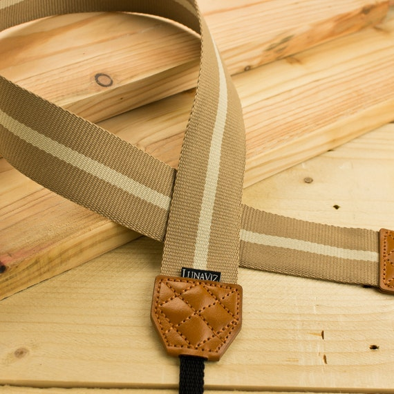 Camera Strap - Earthy stripe for DSLR and Mirrorless Camera (Brown)