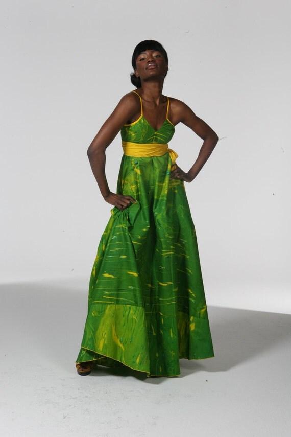 the Unique Green Envy maxi dress (Custom Size)