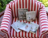 Doll house miniature shabby home magazines set