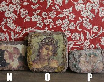 Miniature Roman, Etruscan, Egyptian and Pompeian fresco