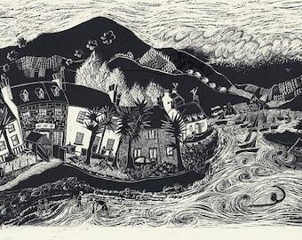 Plockton, Scotland. Framed print.