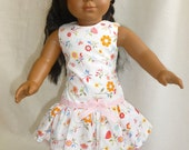 American Girl Clothes: Floral Drop Waist Dress