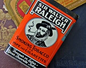 Vintage Tobacco Tin - Sir Walter Raleigh