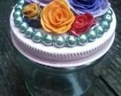 Repurposed Jar of Roses