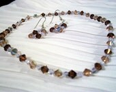 Beaded Choker and Earring Set
