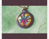The Sweet LEAF  Cannabis ART Pendant