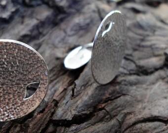 Silver Falling Leaves Cufflinks