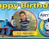 Thomas the Train - Personalized Large 2x4 Custom Vinyl Birthday Banner