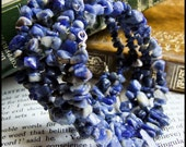 Blue Bracelet - Sodalite Gemstone memory wire