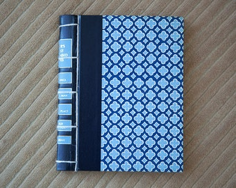 blue vintage hand made journal // hard bound journal