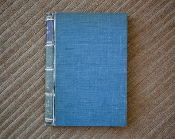 blue handmade journal // hard bound journal