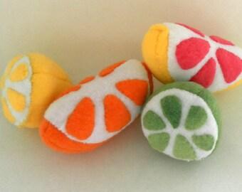 Hand-made Orange Wedge Catnip Filled Cat Toy