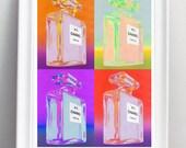 chanel No. 5. Mixed media / pop art  - A3 fine art paper print