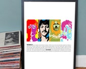 The Beatles mixed media / pop art  - A3 fine art paper print