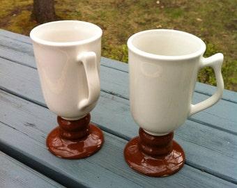 Hall China Irish Coffee Mugs