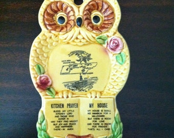 Tennessee Souvineer Vintage Owl - Ceramic Wall Plate