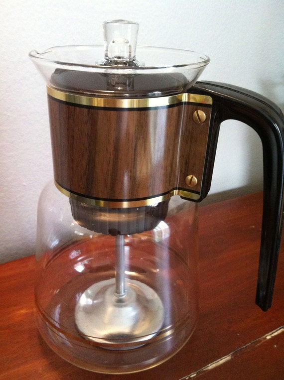 Vintage Stovetop Coffee Maker Percolator  and Decanter by Cory