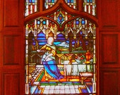 TIFFANY Protege Henry Keck STAINED GLASS  Window 10'  1898 Stunning