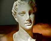 GREEK Statue Head of Young Greek Woman Magnificent