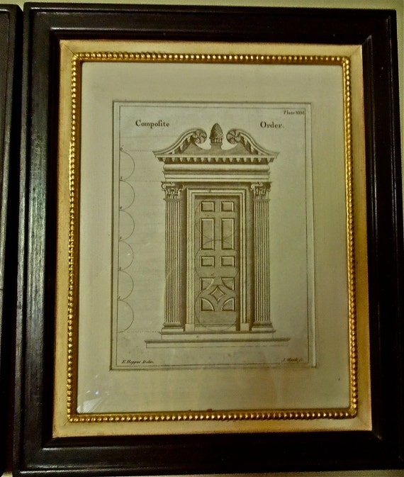 Antique  ENGRAVINGS Prints ARCHITECTURAL DRAWINGS