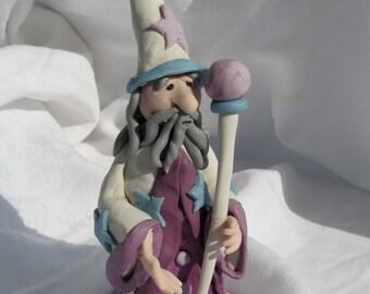 White and Purple Fantasy Wizard