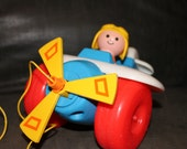 Vintage Fisher Price Little People Airplane 1980 Number 171