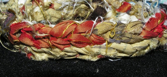 Sari Silk Ribbon Crocheted Bracelet