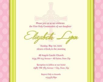 Girl's First Communion Invitations, Communion Invitations, First Holy Communion Invitations, Communion invitations for Girls