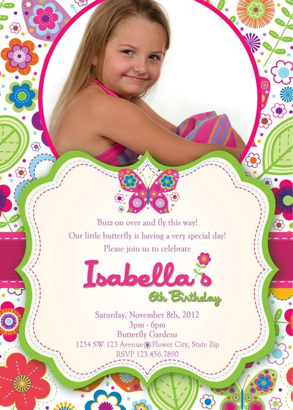 Butterfly Invitation Butterflies and Flowers by ...