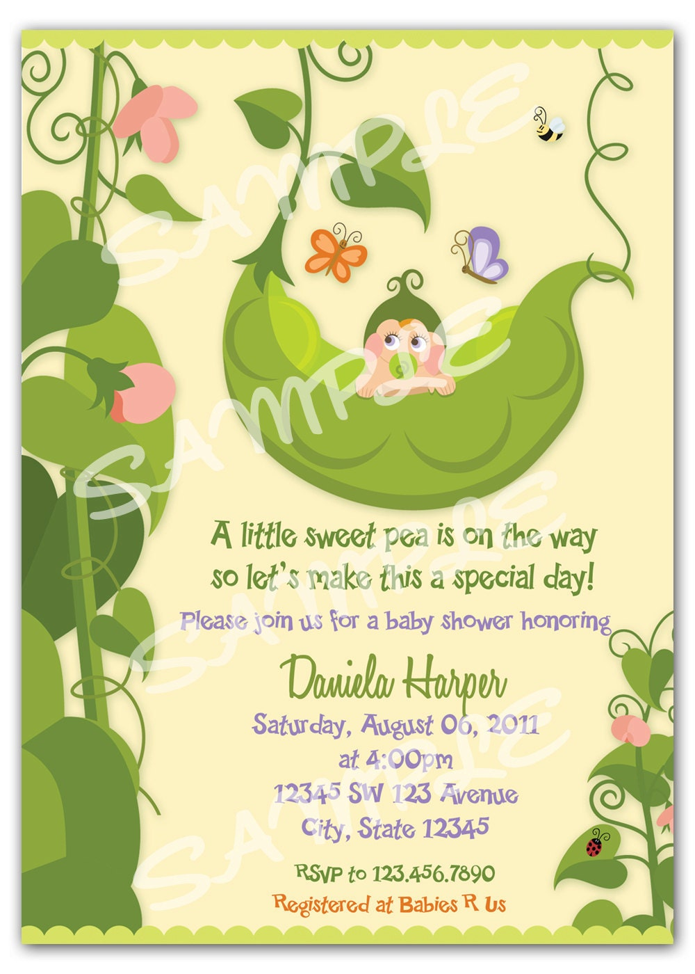 pea in a pod invitation two peas in a pod by artisacreations, Baby shower