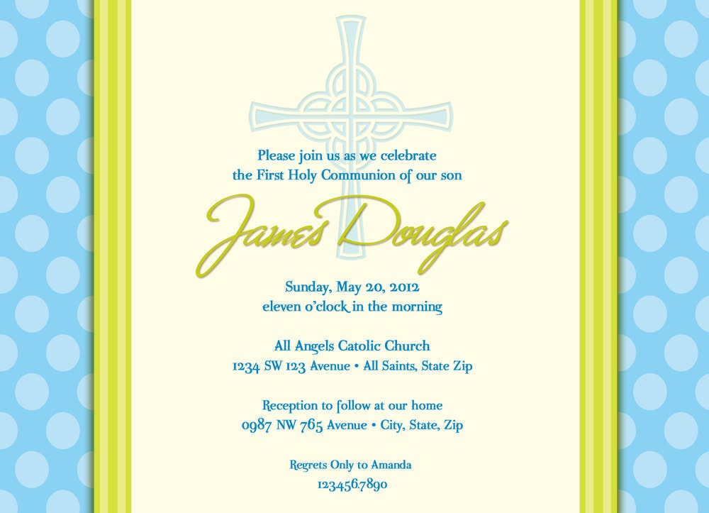 1St Holy Communion Invites as amazing invitations example