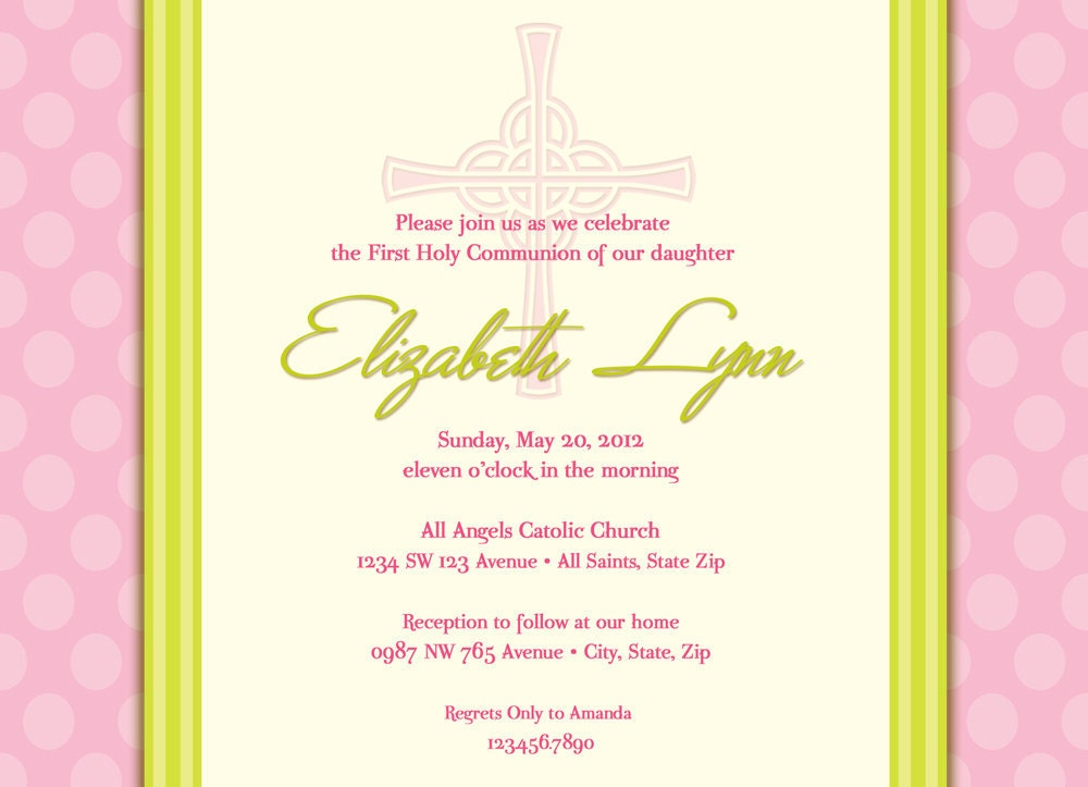 1St Holy Communion Invites with beautiful invitations example
