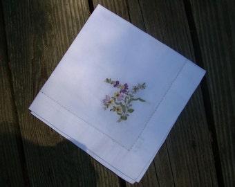 Silk Ribbon-Embroidered Napkin