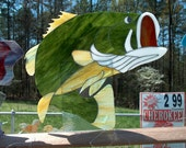 Large Mouth Bass Stained Glass Rickey's lead free process