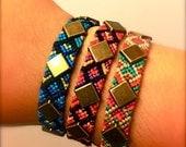 Square Studded Friendship Bracelet