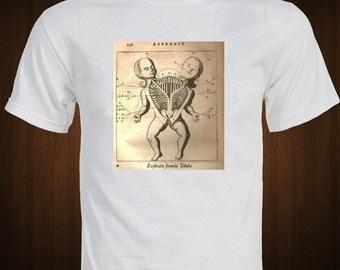 CONJOINED TWINS - Explicatio Fecunda Tabula - 1800's Rare Medical Photograph T-shirt bizzare shirt