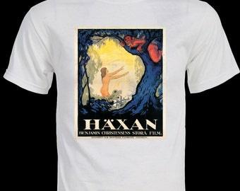 Häxan - HAXAN Film Poster shirt- Withcraft through the Ages 1922 Silent Horror Film the dawn of cinema    T-shirt