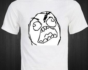 Rage Comics - Original Rage Face - Famous Internet Meme T-shirt