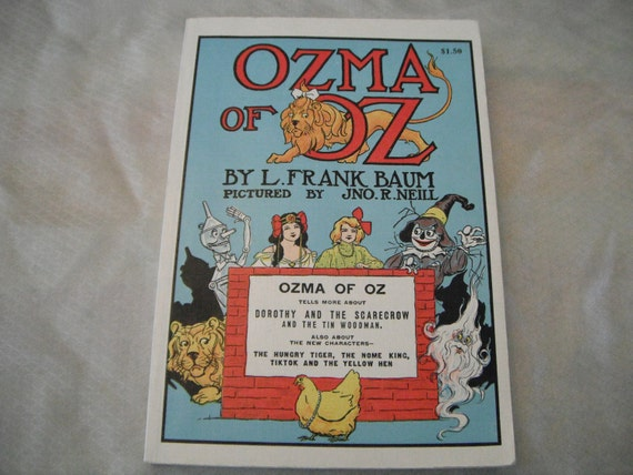 Vintage Ozma of Oz by L. Frank Baum, Author of the Wizard of Oz, 1960s Edition