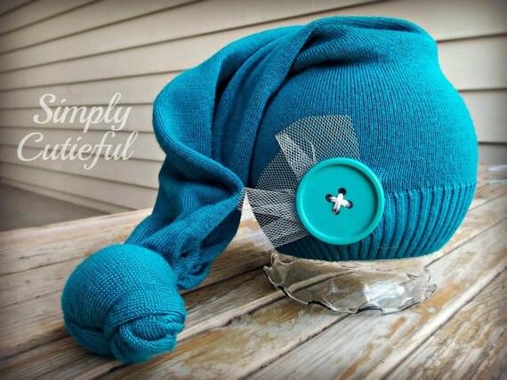 Upcycled Newborn Hat/ Baby hat / Upcycled photo prop / Newborn photo prop / Upcycled Baby hat / Ready to Ship