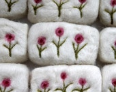 Felted soap with flowers