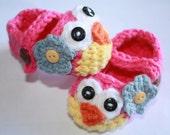 Crochet Owl Booties