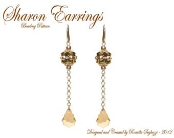 Bead Pattern Earrings Sharon - Pdf file Only for personal use