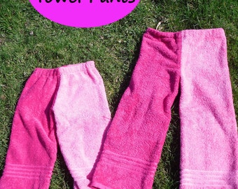 PDF Tutorial/Pattern Towel Pants