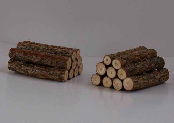 1:12 Scale Miniature Log Pile Doll House Garden Accessory