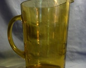 Vintage Libby Ripple Amber Pitcher