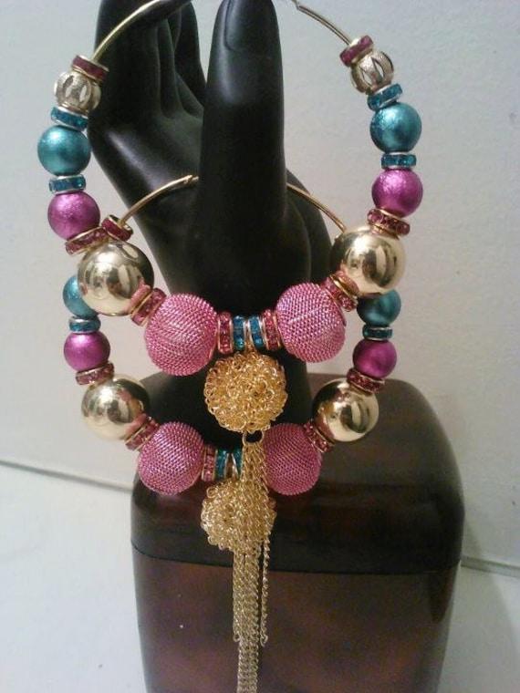MARDI GRAS NIGHTS Basketball Wives inspired earrings