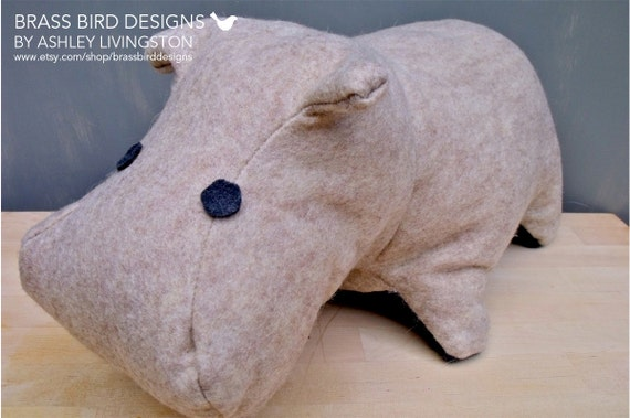 Charlie, the Adorable Felt Plush Hippo